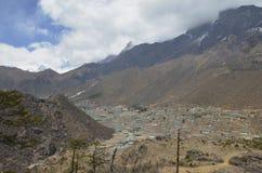 Byn av Khumjung Arkivfoto