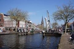 Byn av Leidschendam i Nederländerna Arkivbild