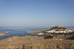 Byn av Lindos, Rhodes Royaltyfria Bilder