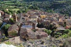Byn av Moustiers Sainte-Marie, Provence, Frankrike Arkivfoto