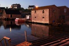 Byn av Peggys liten vik, Nova Scotia Royaltyfri Foto