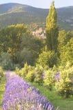 Byn av poeten Laval, Provence, Frankrike. Royaltyfri Fotografi