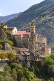 Byn av Saorge, Alpes-Maritimes, Provence i Frankrike Royaltyfri Foto