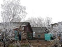 Byn Elsanta, Ryssland Autumn Village Arkivfoto