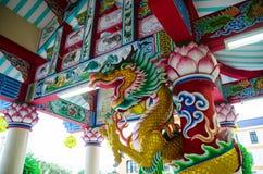 Byn har härlig design, som man har gått in i en by av forntida kinesiska städer Arkivfoton