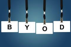 BYOD ή φέρνει τη συσκευή σας Στοκ εικόνα με δικαίωμα ελεύθερης χρήσης