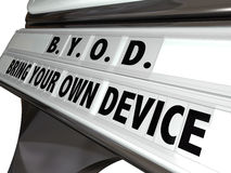 BYOD Bring Your Own Device Sign Workplace Job Policy Royalty Free Stock Photography