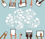 BYOD Bring your own Device Tablets Icon Cloud and  Stock Images