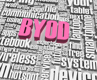 BYOD 3d words. BYOD related words. Part of a series of business concepts Stock Image