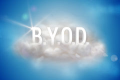 BYOD on a floating cloud Stock Photos