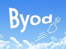 Byod message cloud shape stock illustration