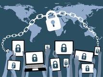 BYOD portano il vostro proprio blu di sicurezza del dispositivo Fotografia Stock