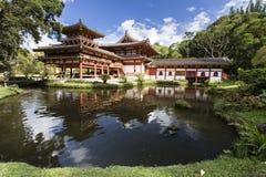 Byodo在寺庙, Kaneohe,奥阿胡岛,夏威夷 图库摄影