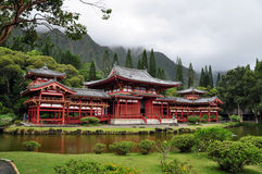 Byodo-In Buddhist Temple. Byodo-In Buddhist Japanese Temple in the Valley of the Temples, Oahu, Hawaii--replica of the famous temple by the same name in Kyoto Stock Photography
