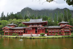 Byodo-In Buddhist Temple. Byodo-In Buddhist Japanese Temple in the Valley of the Temples, Oahu, Hawaii--replica of the famous temple by the same name in Kyoto Stock Photo