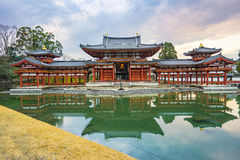 Byodo-in Buddhist temple in Kyoto, Japan. Kyoto, Japan - December 31, 2015: The Byodo-in Buddhist temple, a UNESCO World Heritage Site is a Buddhist temple in Royalty Free Stock Photography