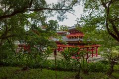 Byodo-In Buddhist Temple, Oahu, Hawaii Stock Image