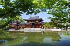 Byodo-in Buddhist temple in Uji, Japan. Original Byodo-in Buddhist temple in Uji near Kyoto, Japan, a UNESCO World Heritage Site. Phoenix Hall building  more Royalty Free Stock Photos