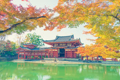 Byodo-dans le temple Kyoto, le Japon (image filtrée vintage traité photo stock