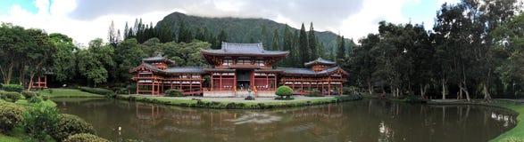 Byodo-en el templo es un templo budista no-confesional situado en la isla de Oahu en Hawaii foto de archivo libre de regalías