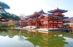 Byodo-en el templo por la mañana Kyoto, templo budista, una UNESCO W Imagen de archivo