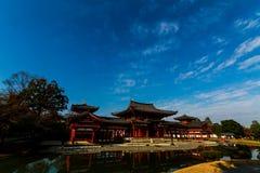 Byodo-en el templo por la mañana Kyoto, templo budista, una UNESCO W Imagen de archivo libre de regalías