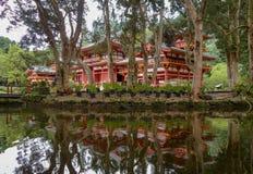 Byodo-en el templo, un templo no-confesional situado en la isla de Oahu en Hawaii foto de archivo