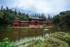 Byodo-en el templo en el valle de los templos en la isla de Oahu, Hawaii foto de archivo libre de regalías