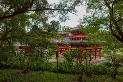 Byodo-i den buddistiska templet Oahu, Hawaii Fotografering för Bildbyråer