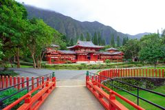 Byodo-no templo Foto de Stock Royalty Free