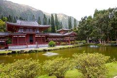 Byodo-no templo budista em Oahu, Havaí imagem de stock royalty free