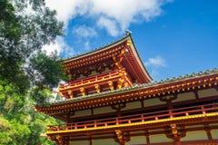 Byodo-no templo japonês na ilha de Oahu, Havaí foto de stock royalty free