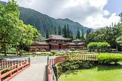 Byodo-No templo, Kaneohe, Oahu, Havaí imagem de stock royalty free