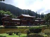 Byodo-no templo, Oahu, Havaí fotos de stock royalty free