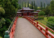 Byodo-in Tempel Stock Foto's