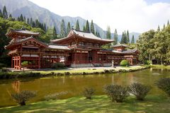 Byodo-in Tempel Hawaï Stock Foto's