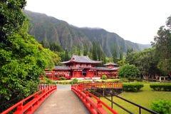 Byodo-in Tempel, O'aho, Hawaï Stock Foto's