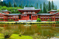 Byodo-in Tempel, Oahu Royalty-vrije Stock Fotografie