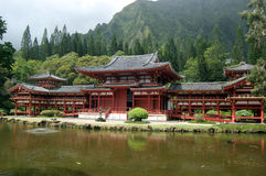 Byodo-in Tempel, Oahu, Hawaï Royalty-vrije Stock Foto's