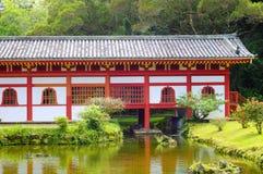 Byodo-in tempelachtergedeelte Royalty-vrije Stock Afbeelding