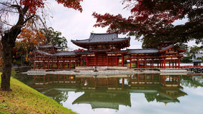 Byodo-in temple with autumn color, Uji Royalty Free Stock Photo