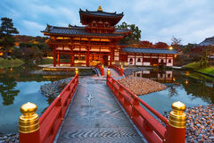 Byodo-in temple with autumn, Uji Royalty Free Stock Photography