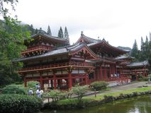 Byodo-In Temple, chinese architecture, japanese architecture, shinto shrine, temple. Byodo-In Temple is chinese architecture, temple and pagoda. That marvel has Stock Image