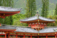 Byodo In temple corner Royalty Free Stock Images