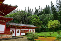 Byodo-in Temple in Hawaii Royalty Free Stock Photo