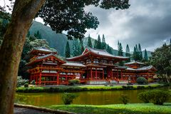 The Byodo-In Temple stock image
