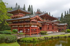 Byodo-In Temple with the Koolau mountains, Hawaii, USA. Stock Images