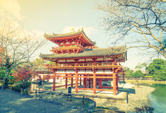 Byodo-in Temple Kyoto, Japan ( Filtered image processed vintage Royalty Free Stock Images