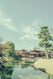 Byodo-in Temple Kyoto, Japan ( Filtered image processed vintage Stock Photo