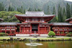 Byodo-In Temple, O'aho, Hawaii Stock Image